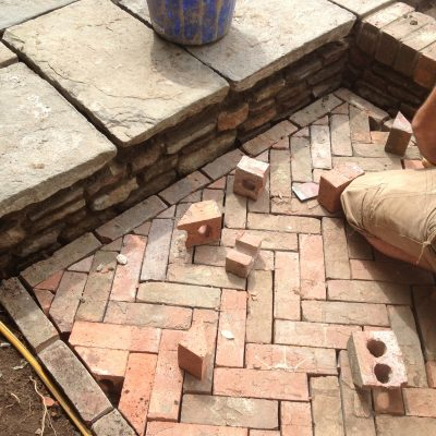 Reclaimed Brick Paving